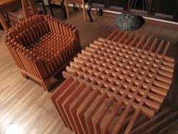 25ワッフルなテーブル@いわい家具・ウッドスタイルカフェ