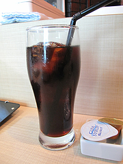 20ランチ:アイスコーヒー@チャンポン専門店・ヌードルキッチン・ウツツヤ(現屋)・天神ビブレ