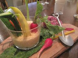 5糸島野菜たっぷりバーニャ畑@ワイン食堂・根