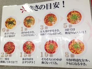 12辛さの目安@辛麺屋司