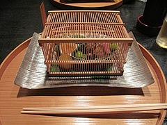 懐石:八寸・前菜・虫籠@日本料理・浄水茶寮・薬院