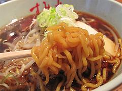 14ランチ:醤油ラーメン麺@札幌味噌ラーメン・すみれ・博多店