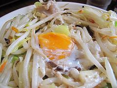 11メニュー:ちゃんぽん生卵入り+30円@伊万里ちゃんぽん・福岡博多店