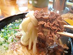料理:肉うどん食べる@葉隠うどん・博多駅南