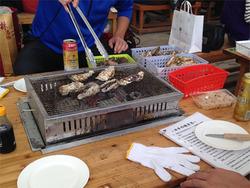 10牡蠣焼く@牡蠣小屋マルハチ