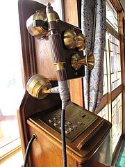 11店内:昔の電話@チャンポン・ラーメン・長崎亭・福重本店