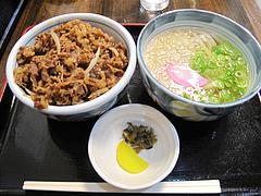 5ランチ:牛丼+ミニうどんセット500円@カラフル食堂・住吉店