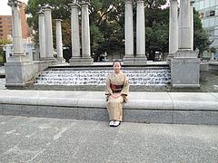 外観:天神中央公園の噴水広場@トキハラーメン・天神