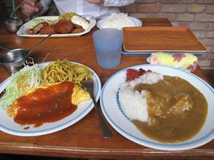 15カレー定食オムレツ540円@はいから亭