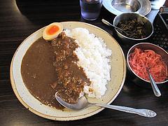 6ランチ:カレーライス550円+半熟味玉半分50円@一龍・春日・ラーメン