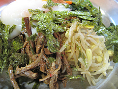 6ランチ:豆もやし・ぜんまい・海苔@ビビンバ・韓国冷麺専門店・菜ずき・天神
