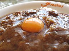 ランチ:カレーライスに全卵@カレー・珈琲の店・インダス