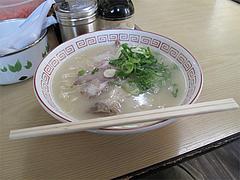 ランチ:煮玉子らーめん600円@ラーメン・長浜ナンバーワン祇園店