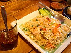 タイ風えびチャーハン(スープ付)750円@タイ屋台料理&ヌードル オシャ(osha)