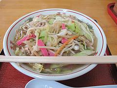 料理:チャンポン600円@御食事処・王叙・ワンミン)