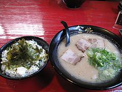 13ランチ:肉味噌セット750円@麺や・金の豚・ラーメン・野方