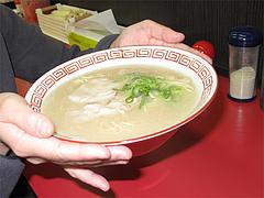 料理:ラーメン280円@長浜大将・長浜ラーメン街