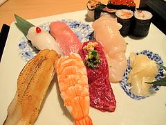 料理:特選握り鮨の膳の寿司1@海山邸・ザショップス