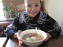 料理:あすからーめん680円の大きさ@麺菜酒家・支那そば・あすか・大橋