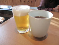3グラスビール@釜喜利うどん