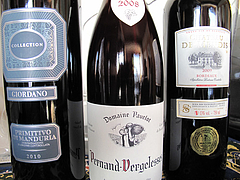 16Giordano collection Primitive di manduria 2010・Pernand Vergelesses Domaine Paurlot 2008・Chateau de Mendis 2009 @ワイン会