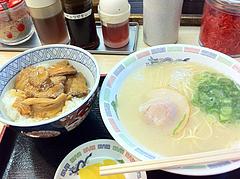 ランチ:チャーシュー丼セット580円@博多ラーメン・はかた・堅粕店