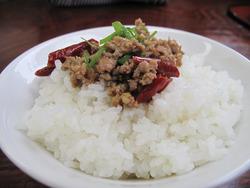 13肉みそご飯120円@丸八ラーメン