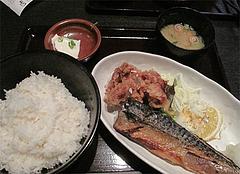 5ランチ:さばの塩焼きと唐揚げ390円@居酒屋しょうき・博多店
