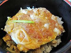 料理:日替わりカツ丼(金)@麺処かわべ・博多駅南