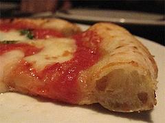 ディナー:マルゲリータ断面@Pizzeria Da Gaetano(ピッツェリア・ダ・ガエターノ)・薬院・福岡