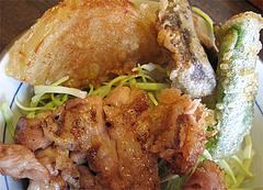 7ランチ:焼とり丼と野菜天ぷら@焼とり筑ぜん・博多駅前