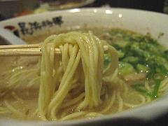 12ランチ:ラーメン麺@ラーメン居酒屋・長浜将軍・門