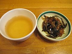 ランチ:そば茶と昆布の佃煮@長住うどん