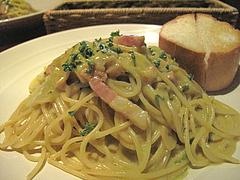 9ベーコンと白菜のクリームパスタ@イタリアン・バー・クオリア・姪浜