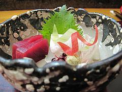 料理:平目と鮪の刺身@日本料理・花柚(はなゆう)・倉敷