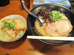 ランチ:ラーメン580円+肉めし小150円@らーめん二男坊・春日原・福岡