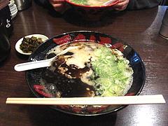 8ランチ:こってり黒ラーメン600円@ラーメンTAIZO(タイゾー)那珂川店