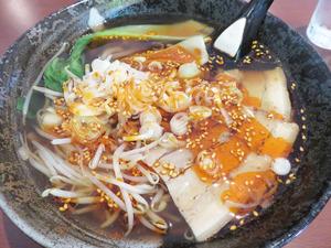 6中華旨辛豚骨麺680円