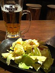 5居酒屋:お通しキャベツ@焼鶏工房めっしー・焼鳥・高砂