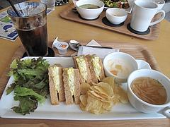 料理:サンドプレートランチ950円@カフェ・オットー・リバレイン博多