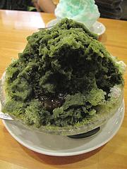 カフェ:宇治金時かき氷400円@蜂楽饅頭・西新