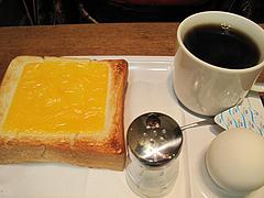 料理:チーズトーストセット380円@ベークショップ・イワハシ・薬院店