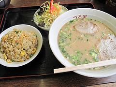 料理:ラーメンセット650円@ラーメンつる家・那珂川