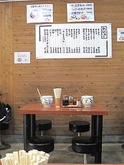 6店内:小さなテーブル@長浜将軍・本店