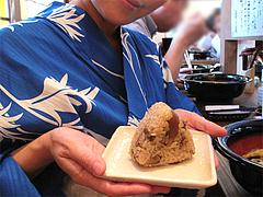 料理:かしわおにぎり160円@中世博多うどん春月庵・承天寺前店