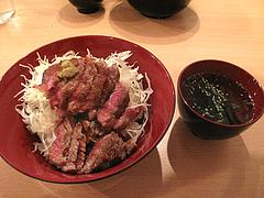 6ランチ:ステーキ丼並盛500円@黒毛和牛ニクゼン・赤坂・大名