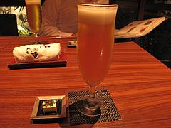 5明太子:ビールとお通し@元祖博多めんたい重