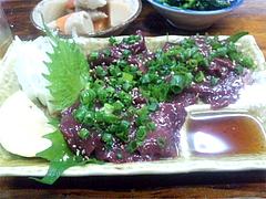 料理:レバ刺@居酒屋・日本海・雑餉隈(ざっしょのくま)