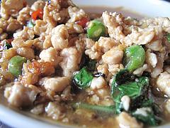 13ランチ:鶏肉のバジル炒め@タイ料理・THAI CAFE KATI(タイカフェ・カティ)・京都