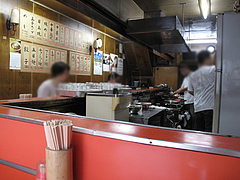 2店内:カウンター@中華料理・龍園・薬院